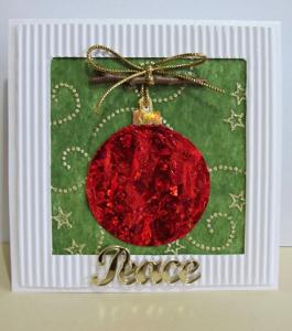 Самодельная открытка с Рождеством с пожеланием мира