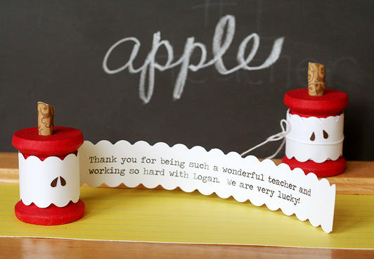 Homemade Thank You Cards Le Core Spool Card