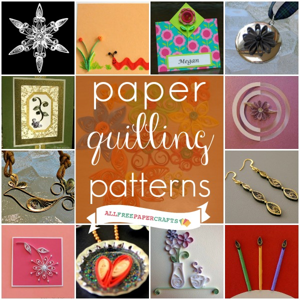 crafts 4 camp how to quill paper 25 free quilling patterns