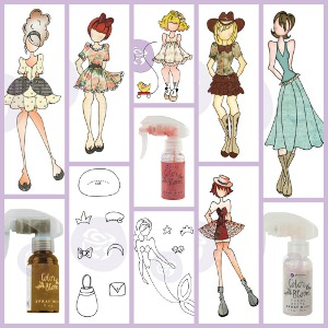 Julie Nutting Cling Stamps and Color Bloom Sprays