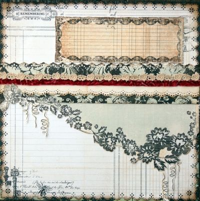 Sprawling Vine Scrapbook Layout