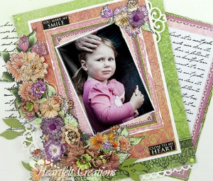 You Make Me Smile Majestic Morning Layout An Abundance of Colors! Make Beautiful Paper Crafts
